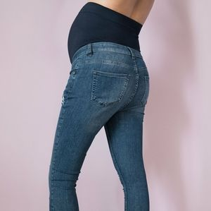Wilder Distressed Over Bump Skinny Maternity Jeans